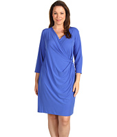 Calvin Klein - Plus Size 3/4 Sleeve V-Neck Dress