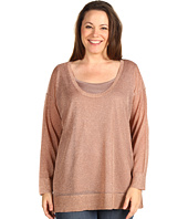 Calvin Klein - Plus Size L/S Shimmer Scoop Neck Sweater