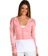 Betsey Johnson - Lace Novelty Cropped Cardi