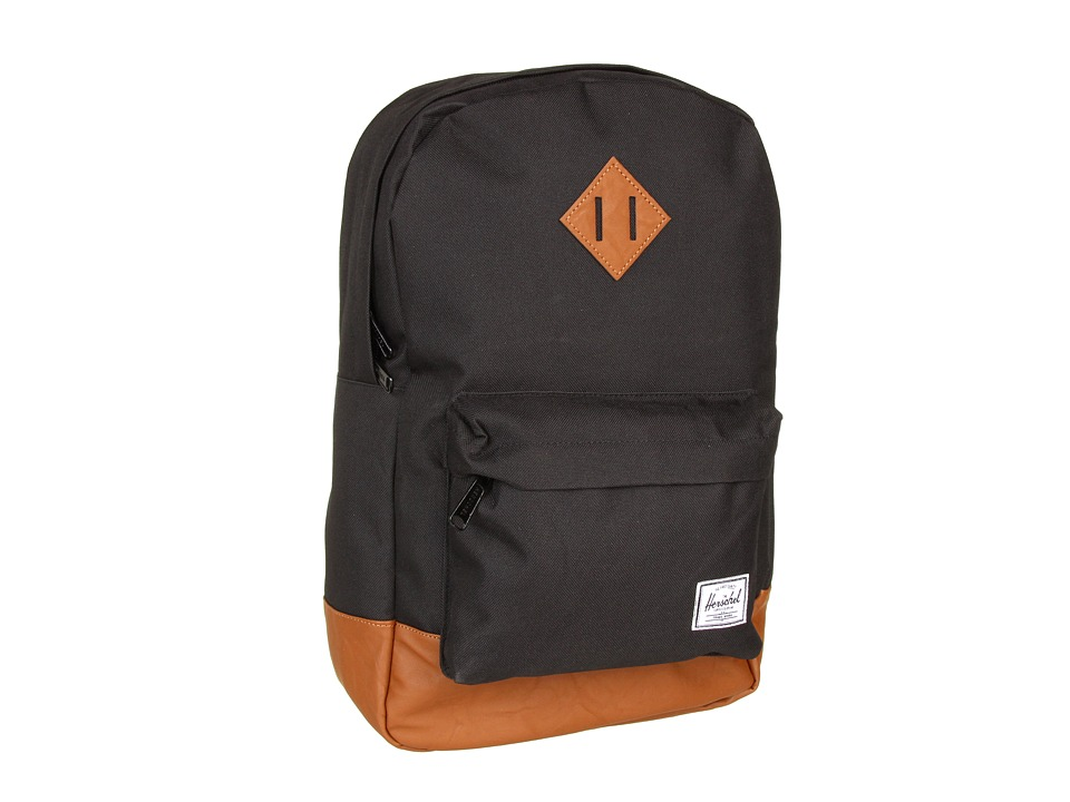 Herschel Supply Co. - Heritage Medium Volume (Black) Backpack Bags