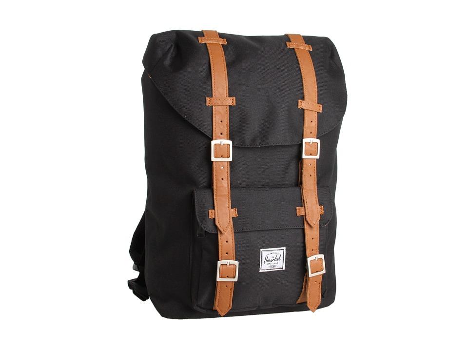 Herschel Supply Co. Little America Mid Volume Black Backpack Bags