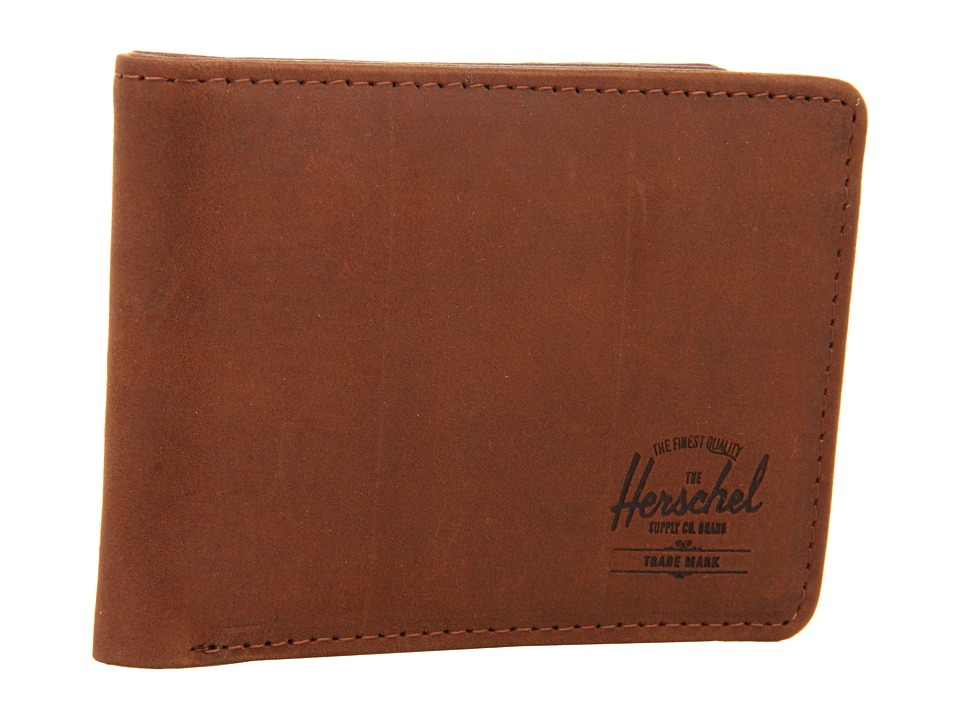 Herschel Supply Co. - Hank Leather (Brown Nubuck) Wallet Handbags