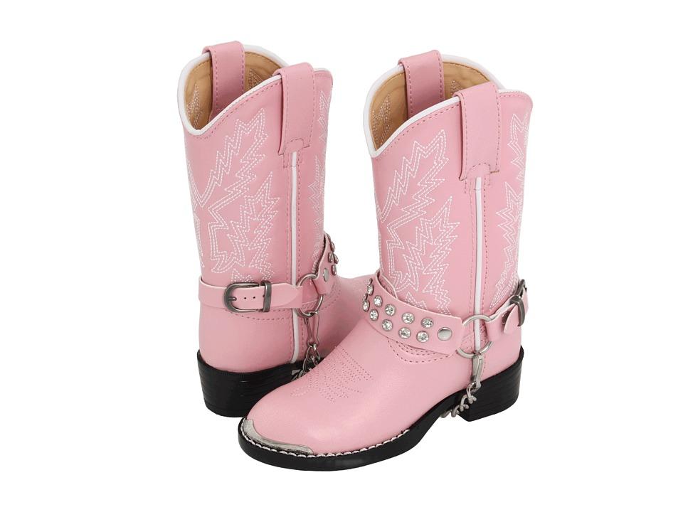 Durango Kids Rhinestone Bling Bling (Toddler/Little Kid) (Pink Rhinestone) Cowboy Boots