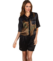 Diesel Black Gold - Silk And Leather Romper