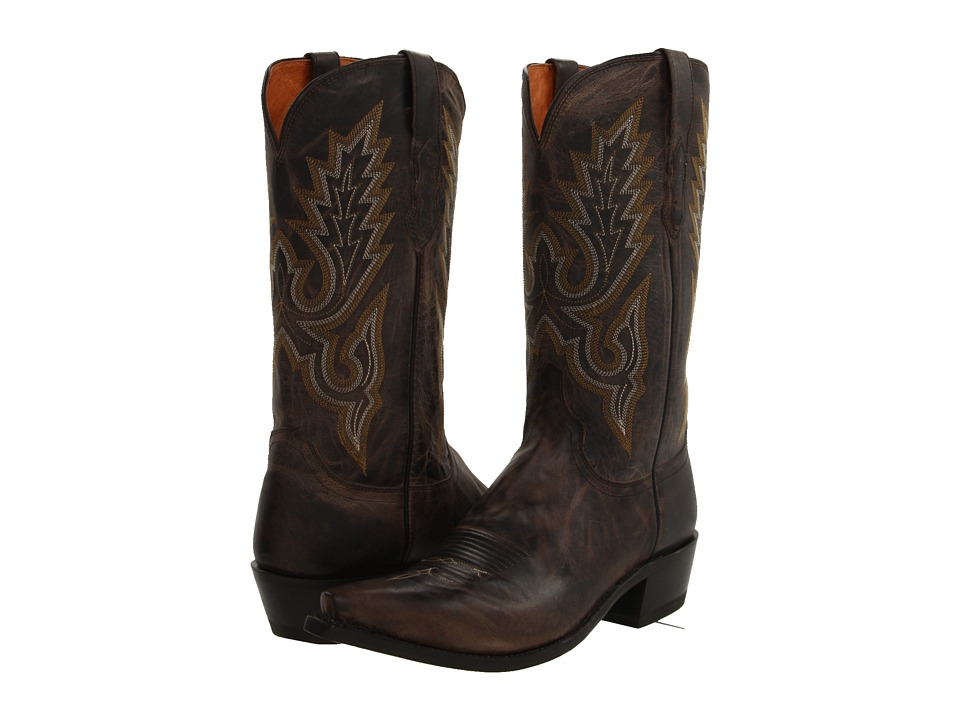 Lucchese - M1001 (Anthracite Madras Goat) Cowboy Boots