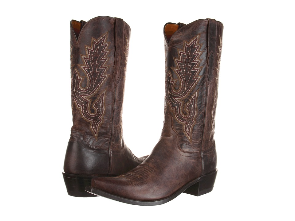 Lucchese - M1002 (Chocolate Madras Goat) Cowboy Boots
