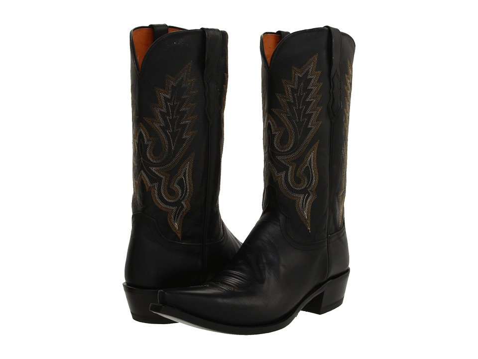 Lucchese - M1007 (Black Madras Goat) Cowboy Boots