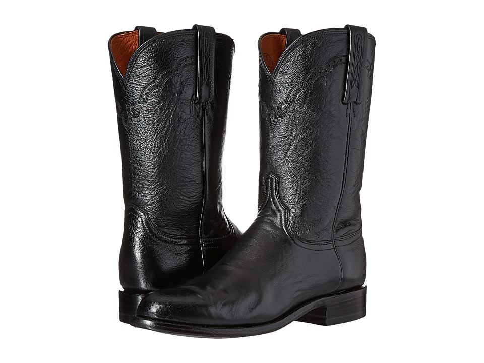 Lucchese - M1010 (Black Lonestar Calf) Cowboy Boots