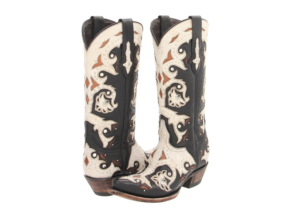 Lucchese - M5016 (Studded Scarlette Black) Cowboy Boots