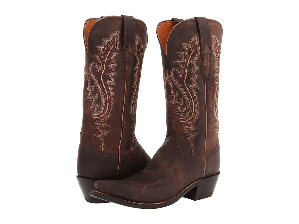 Lucchese - M5002 (Chocolate Madras Goat) Cowboy Boots