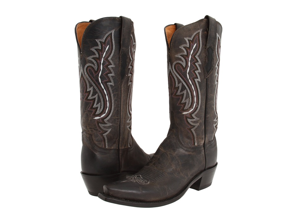 Lucchese M5001 (Anthracite Black) Cowboy Boots