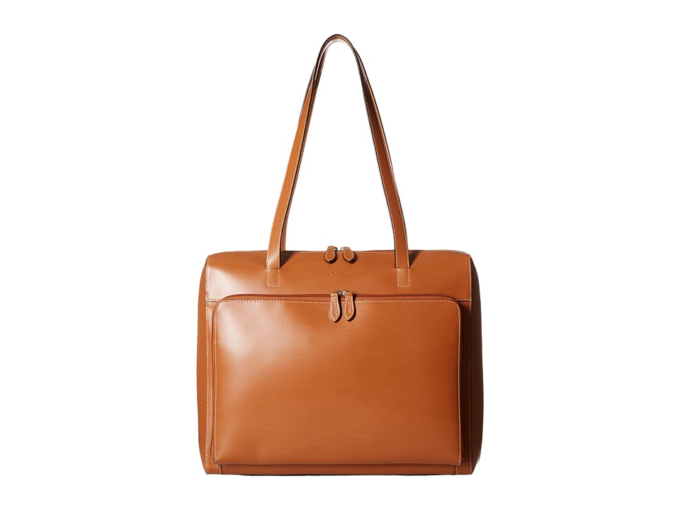 Lodis Accessories - Audrey Zip Top Tote w/ Organization (Toffee) Tote Handbags
