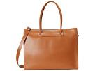 Audrey Zipper Top Tote Bag (Toffee)