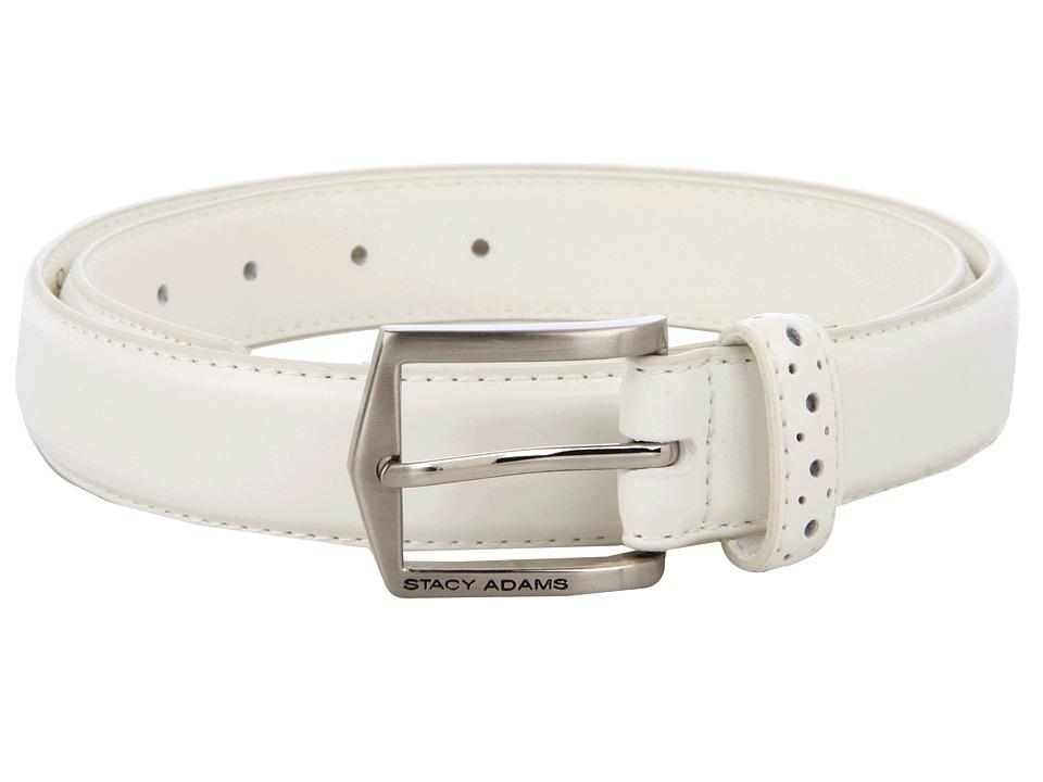 Stacy Adams 087 White Mens Belts
