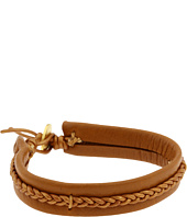 Dogeared Jewels - Metallic Braid Leather Bracelet