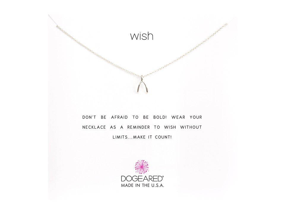 Dogeared - Wish Reminder 16 inch (Silver) Necklace