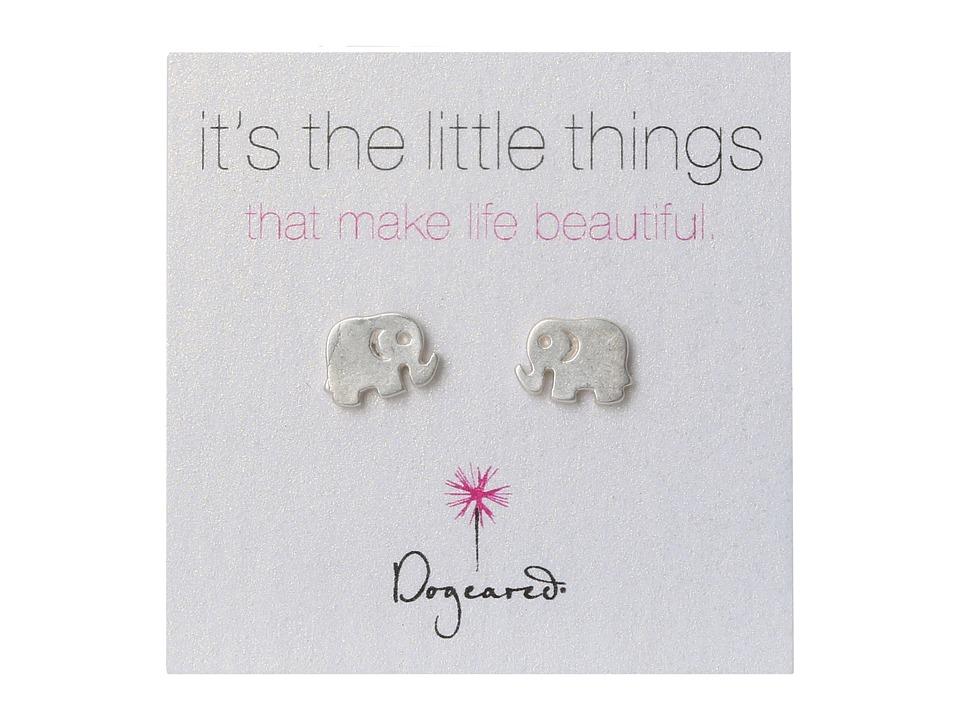 Dogeared Little Things Elephant (Silver) Earring