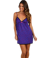 Juicy Couture - Printed Poly Charm Cami Nightie w/ Pieced Mesh Detail