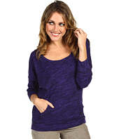 Juicy Couture - Overdyed Twisted Slub Jersey 3/4 Sleeve Pullover