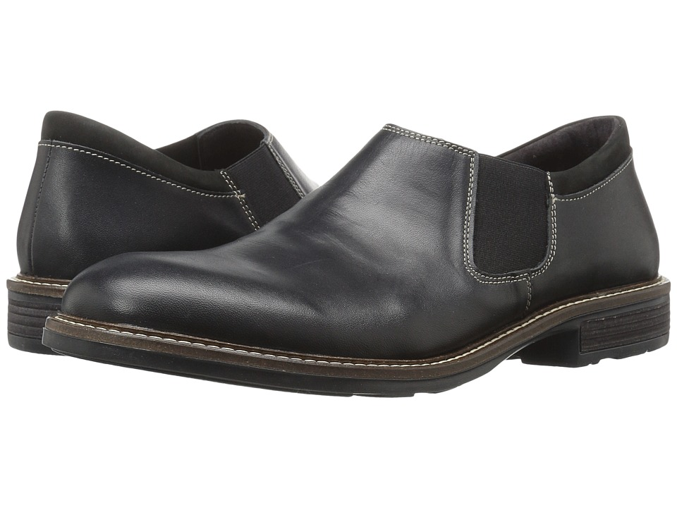 Naot Footwear - Director (Black Raven Leather/Black Velvet Nubuck) Men