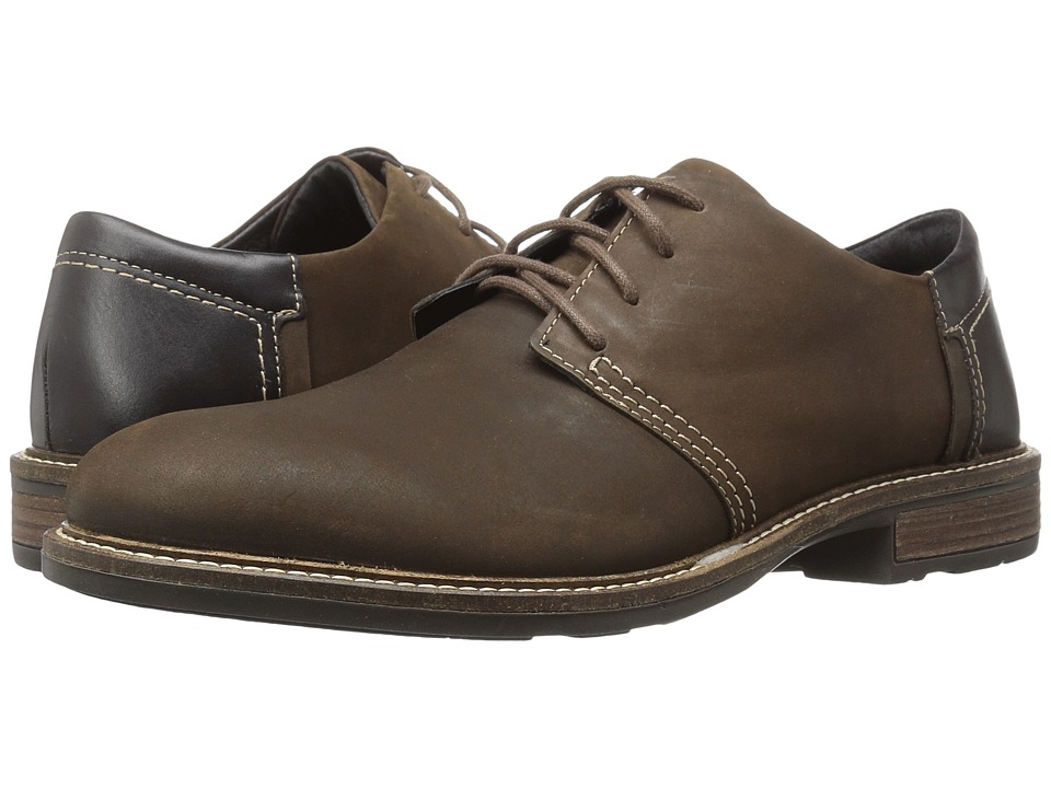 Naot Footwear - Chief (Oily Brown Nubuck/French Roast Leather/Hazelnut Leather) Men