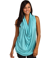 MICHAEL Michael Kors - Sleeveless Cowl Neck Drape Knit Top