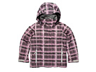 Roxy Kids - Willow Girl Jacket (Big Kids) (Hand Drawn Plaid Cherry Blossom) - Apparel