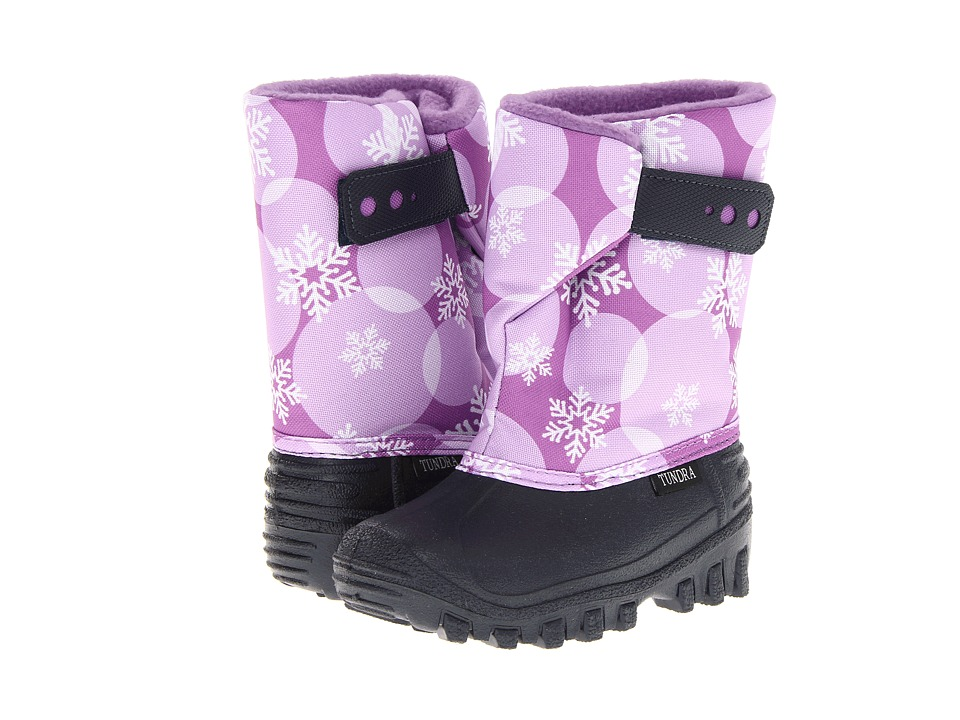 Tundra Boots Kids - Teddy (Toddler/Little Kid) (Navy/Plum/Circle) Girls Shoes