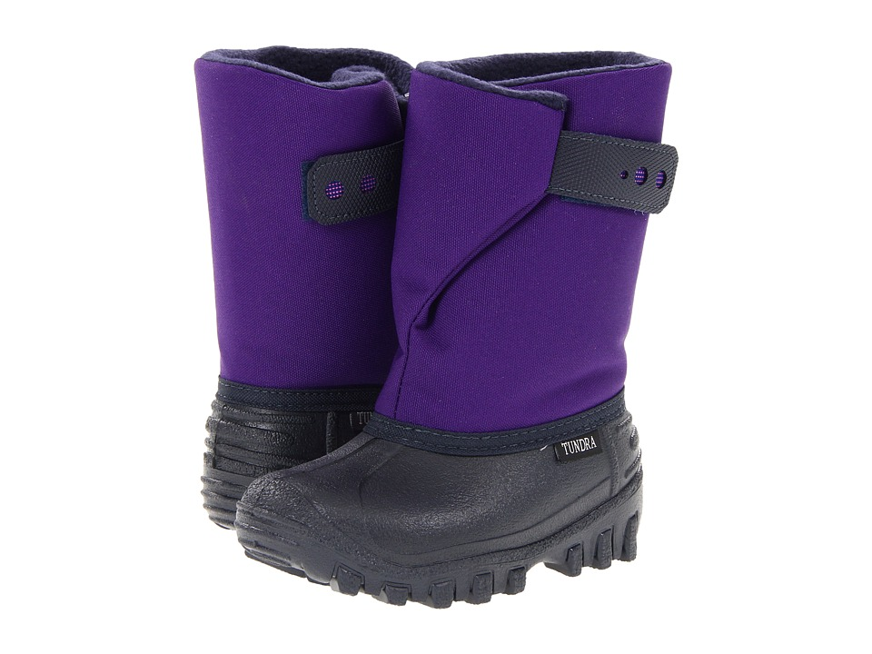Tundra Boots Kids - Teddy (Toddler/Little Kid) (Navy/Purple) Girls Shoes