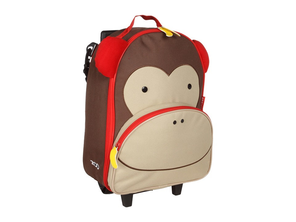 Skip Hop Zoo Kids Rolling Luggage Marshall Monkey Carry on Luggage