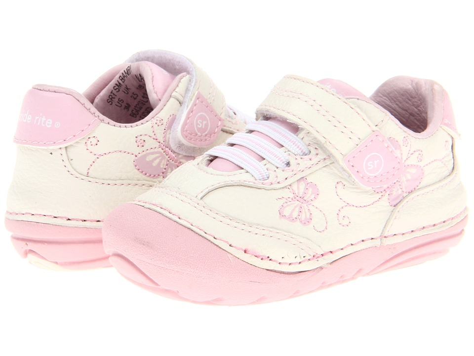 Stride Rite SRT SM Bambi (Infant/Toddler) (White/Pink) Girls Shoes