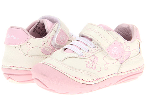 Stride Rite SRT SM Bambi (Infant/Toddler) - White/Pink