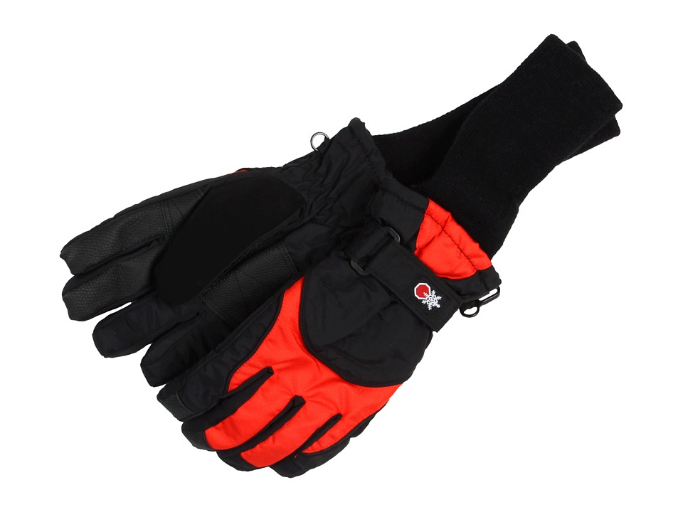 Tundra Boots Kids - Snowstoppers Gloves (Black/Red) Extreme Cold Weather Gloves