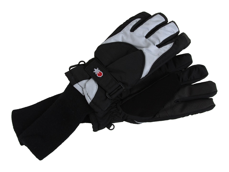 Tundra Boots Kids Snowstoppers Gloves Black/Grey Extreme Cold Weather Gloves