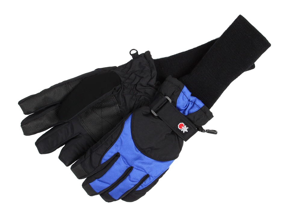 Tundra Boots Kids Snowstoppers Gloves Black/Blue Extreme Cold Weather Gloves