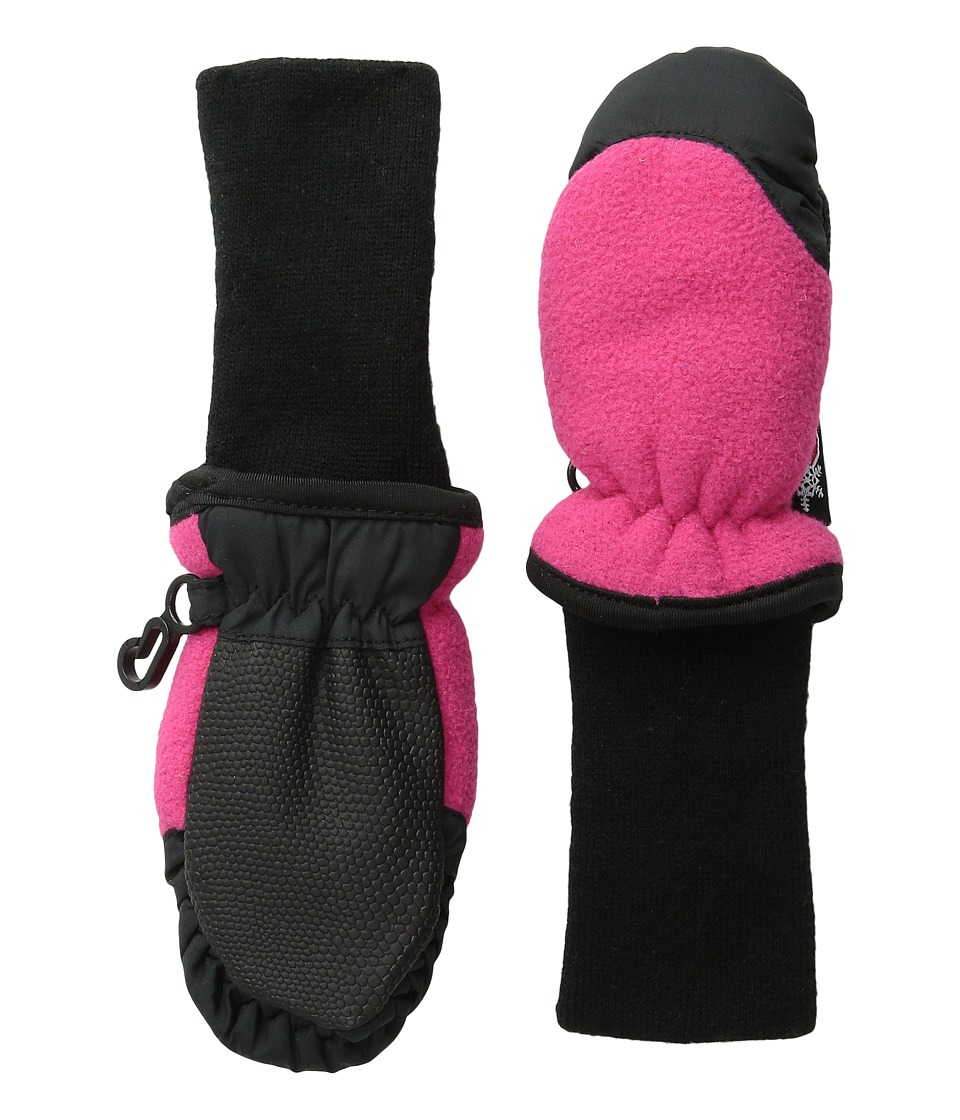 Tundra Boots Kids Snowstoppers Fleece Mittens Fuschia Extreme Cold Weather Gloves