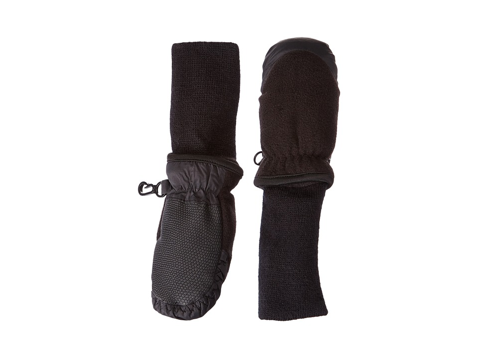 Tundra Boots Kids Snowstoppers Fleece Mittens (Black) Extreme Cold Weather Gloves
