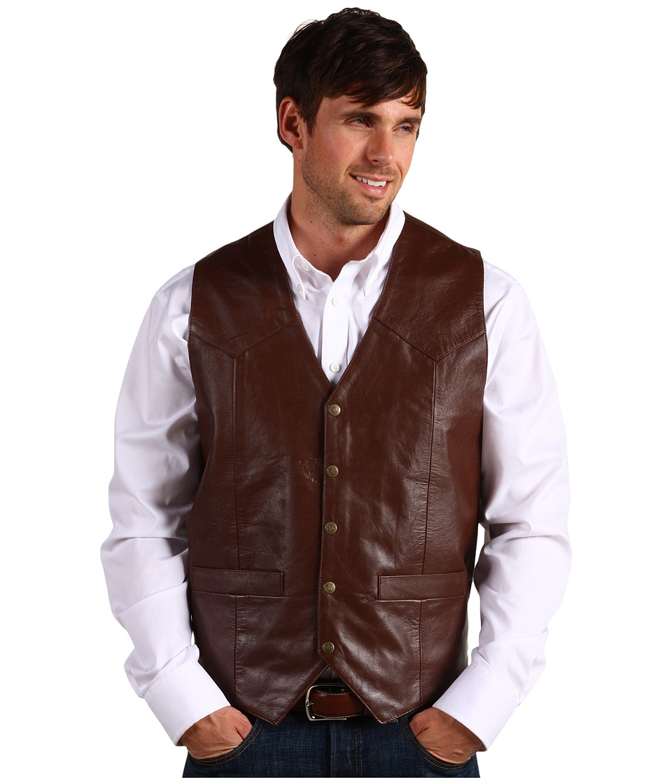Roper - Saddle Western Vest (Brown) Mens Vest