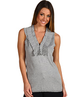 BCBGMAXAZRIA - Sleeveless Ruffle Sweater Tank