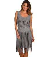 BCBGMAXAZRIA - Cotton Modal Fringed Dress
