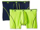 adidas Sport Performance ClimaLite 2-Pack Trunk (Dark Indigo/Slime)