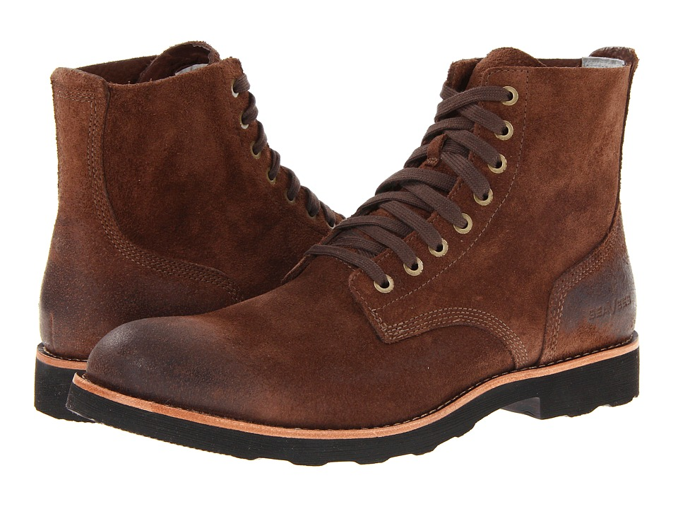 SeaVees 05/63 Boondocker Boot Dark Earth Roughout Leather Mens Lace up Boots