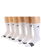 adidas - Men's Cushioned 3 Stripes Crew 6-Pack