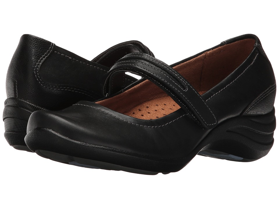 Hush Puppies - Epic Mary Jane (Black Leather) Women's Maryjane Shoes, wide width shoes