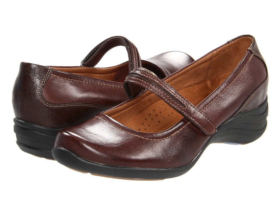 Hush Puppies - Epic Mary Jane (Dark Brown Leather) Women