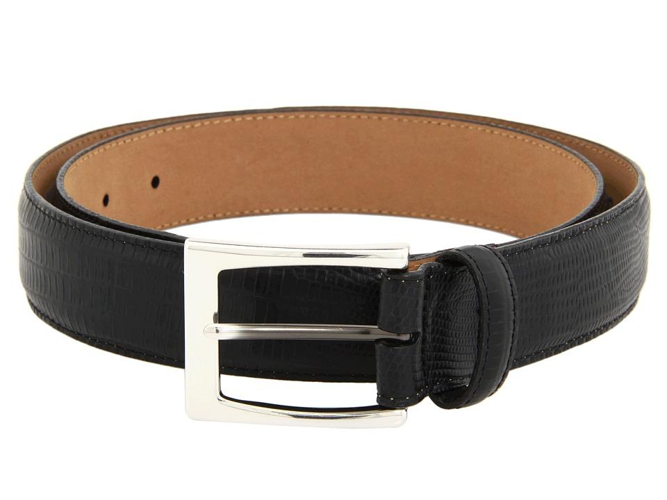 Brighton - Toledo Lizard Belt (Black) Mens Belts
