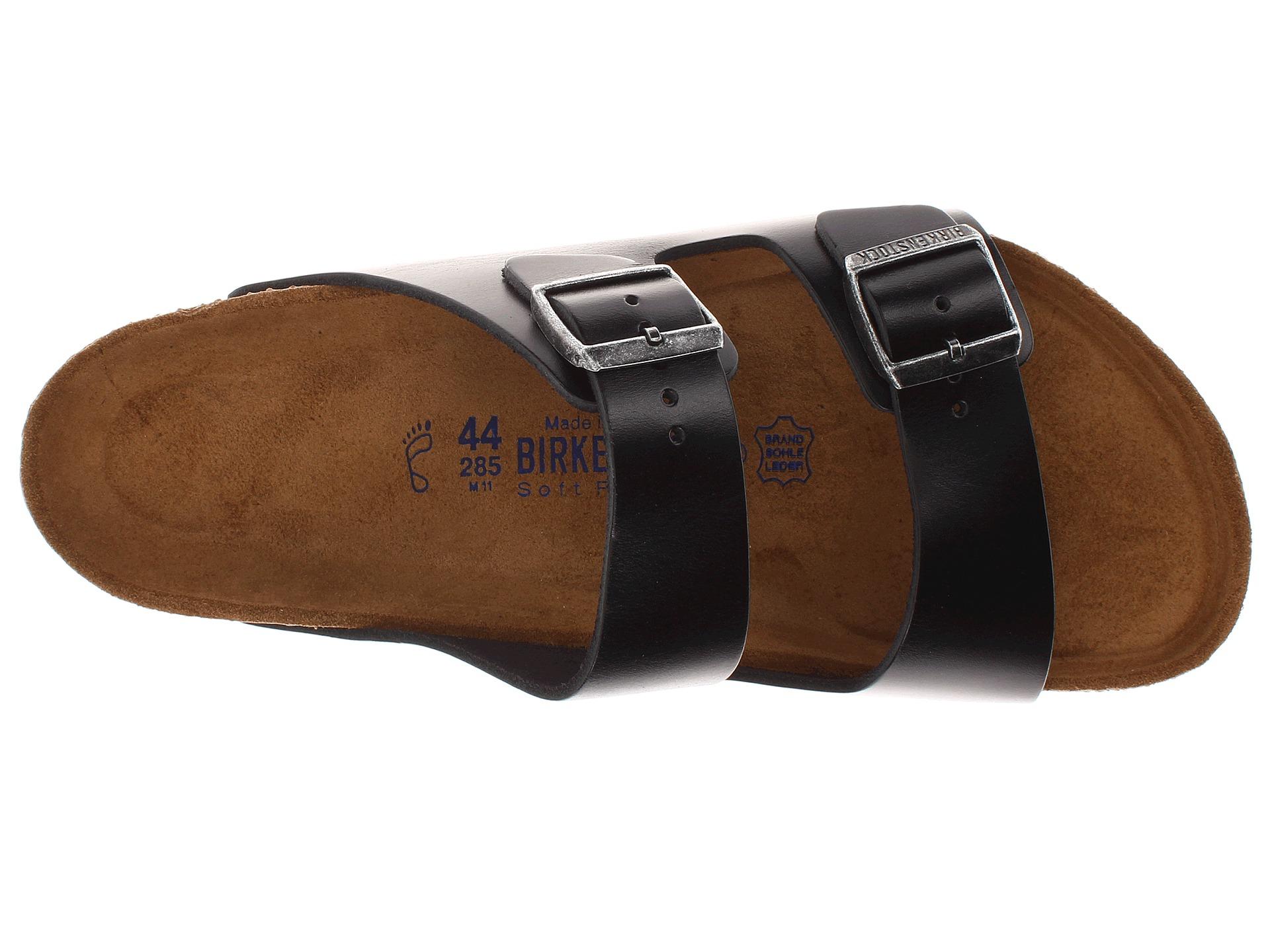 birkenstock arizona soft footbed - leather (unisex) at zappos