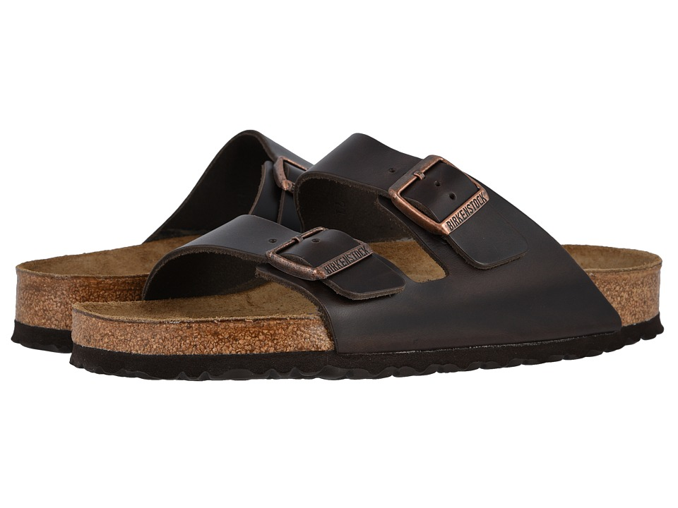 Birkenstock Arizona Soft Footbed Leather (Unisex) (Brown Amalfi Leather) Sandals
