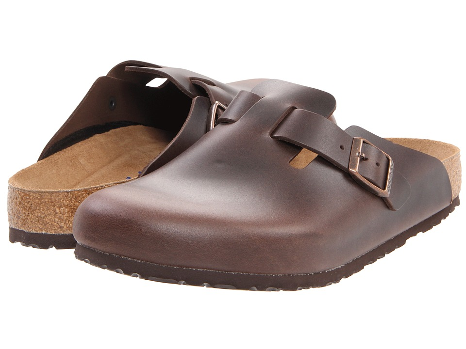 Birkenstock Boston Soft Footbed (Unisex) (Brown Amalfi Leather) Clog Shoes, wide width womens shoes, wide fitting, comfort, footwear, shoes, WW