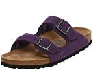 Birkenstock - Arizona Soft Footbed - Suede (Unisex) (Blackberry Suede) - Footwear